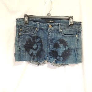 7 for all mankind womens custom cut off bleached D